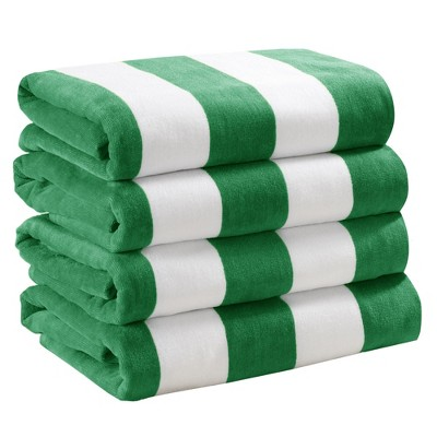 Great Bay Home Velour Cabana Beach Towel Packs