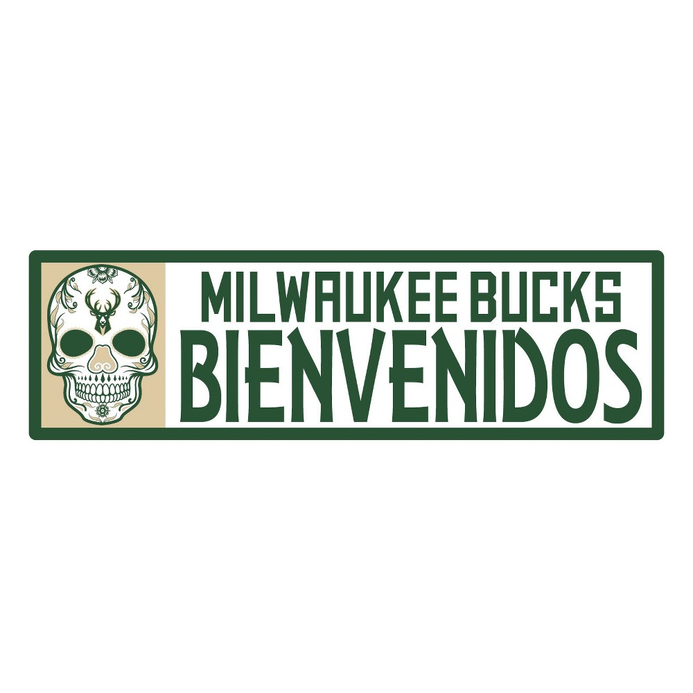 NBA Milwaukee Bucks Outdoor Bienvenidos Step Decal