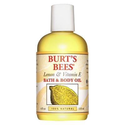 Burt's Bees Lemon and Vitamin E Body and Bath Oil - 4oz