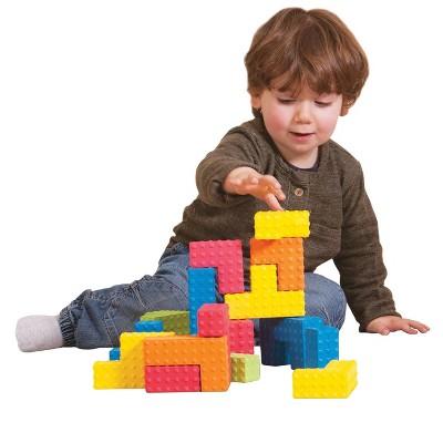 Edushape Sensory Puzzle Blocks, Assorted Colors and Shapes, set of 18