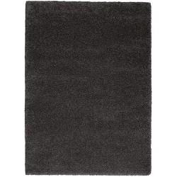 "Nourison Malibu Dark Grey Shag Area Rug MSG01 5'3""X7'3"""