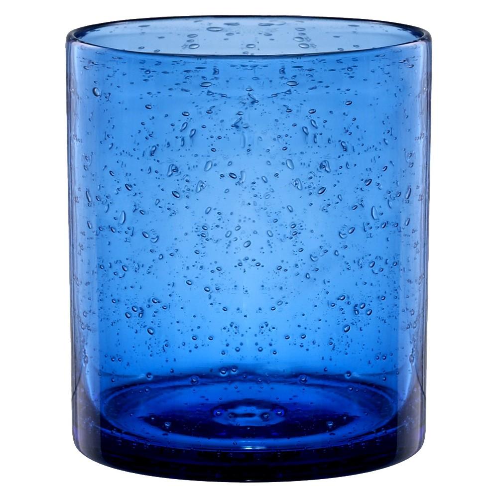 Artland Iris 14oz 4pk Double Old-Fashioned Glasses Blue