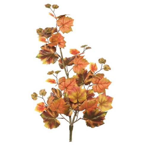 "Artificial Autumn Grape Leaf Hanging Bush (30"") Red/Brown - Vickerman - image 1 of 1"