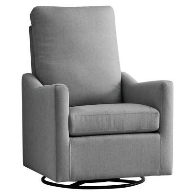 Delta Children Adley Nursery Glider Swivel Chair - French Gray