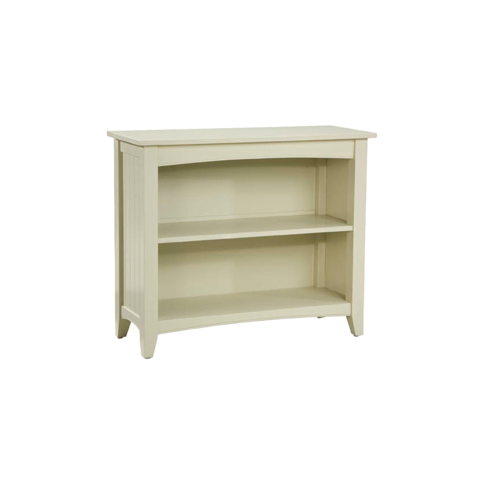 30 2-shelf Bookcase Hardwood Sand (Brown) - Alaterre Furniture
