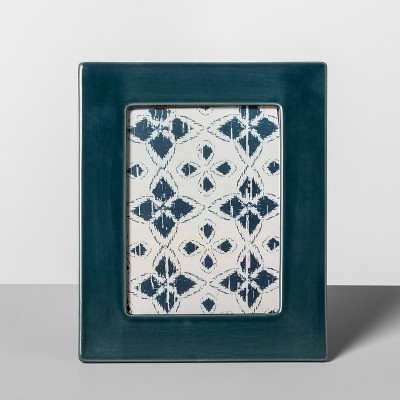 Crackle Ceramic Frame Teal 5 x7  - Opalhouse™