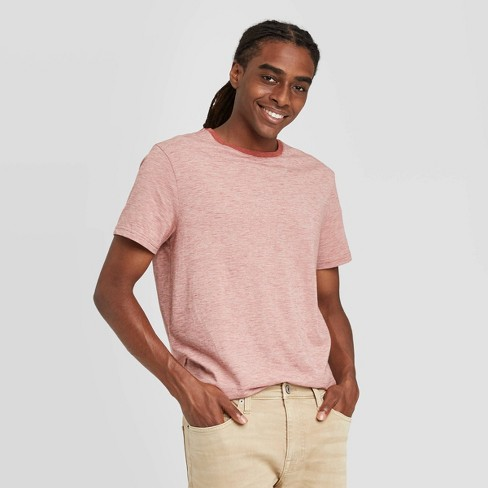 Men's Standard Fit Novelty Crew Neck T-Shirt - Goodfellow & Co™ Orange - image 1 of 3