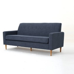 Sawyer Mid Century Modern Sofa Dark Blue - Christopher Knight Home