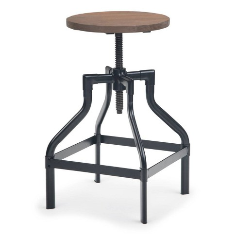 """24"""" Corrigan Counter Stool with Wood Cocoa Brown - Wyndenhall - image 1 of 4"""