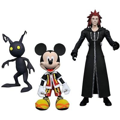 Diamond Comic Distributors, Inc. Kingdom Hearts Select Action Figure Set - Mickey, Axel & Shadow