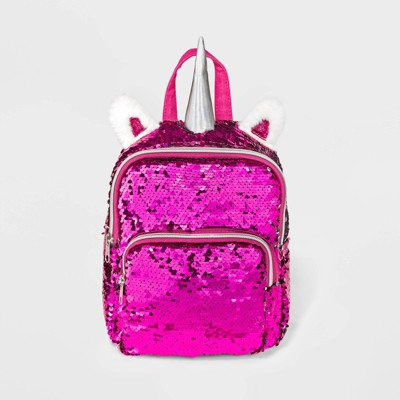 Girls' Flip Sequin Unicorn Mini Backpack - Cat & Jack™ Pink