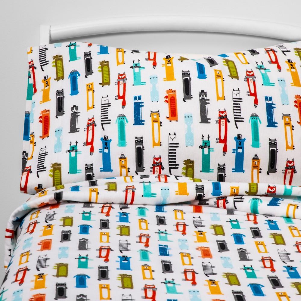 Queen Critter Convention Flannel Sheet Set - Pillowfort, Multi-Colored