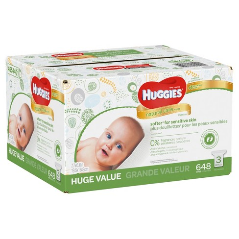 huggies wipes natural care baby wipes 648ct target