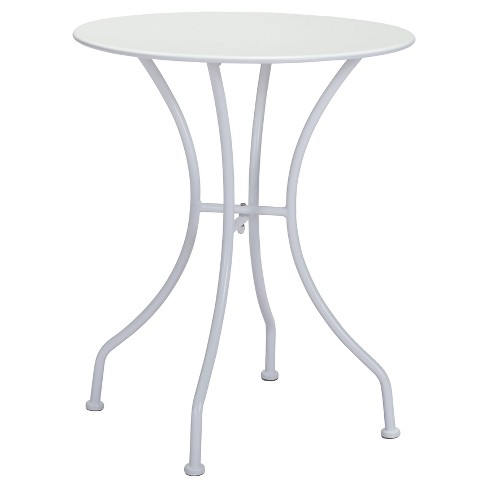 "Round Weather Resistant Steel 24"" Dining Table - White - ZM Home - image 1 of 3"