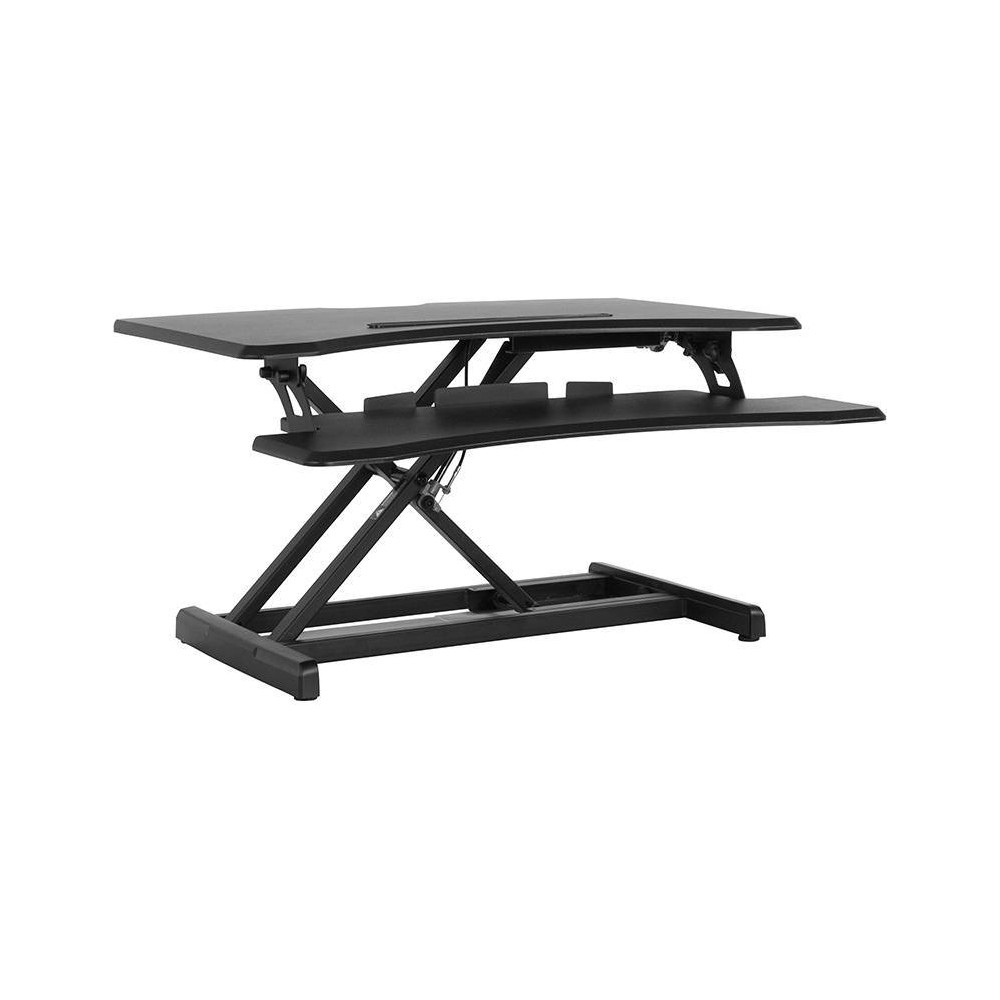 "Image of ""30.25"""" Hercules Series Height Adjustable Ergonomic Desk Black - Riverstone Furniture Collection"""