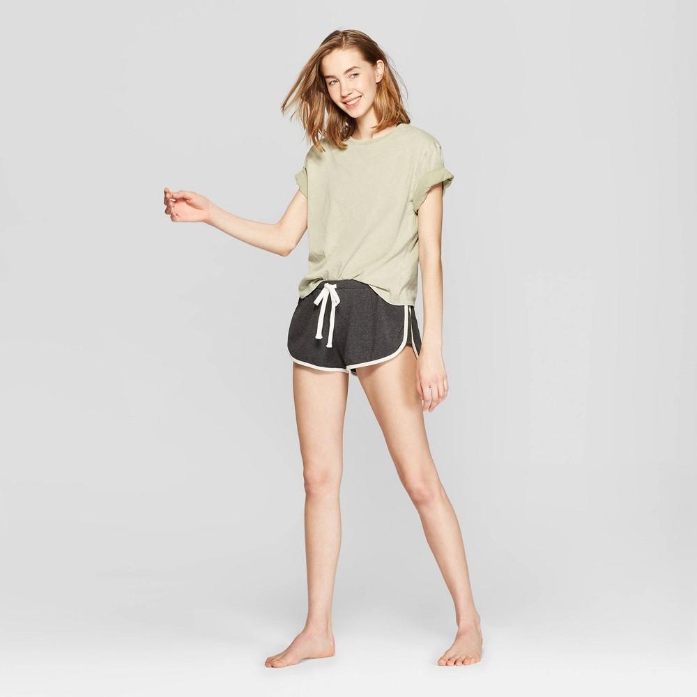 Women's Fleece Dolphin Lounge Shorts - Colsie Gray XL