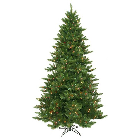 9ft Pre - Lit LED Artificial Christmas Tree Full Green Snow Tip - Clear Lights - image 1 of 1
