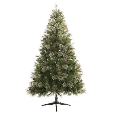 6.5ft Pre-lit Artificial Christmas Tree Virginia Pine Auto Connect Clear Lights - Wondershop™