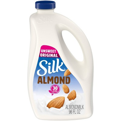 Silk Unsweetened Almond Milk - 96 fl oz