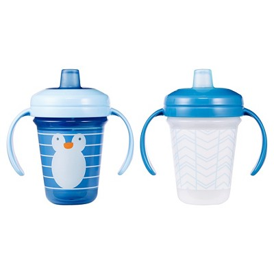 The First Years Stackable Soft Spout 7oz Trainer Cup 2 pk - Blue