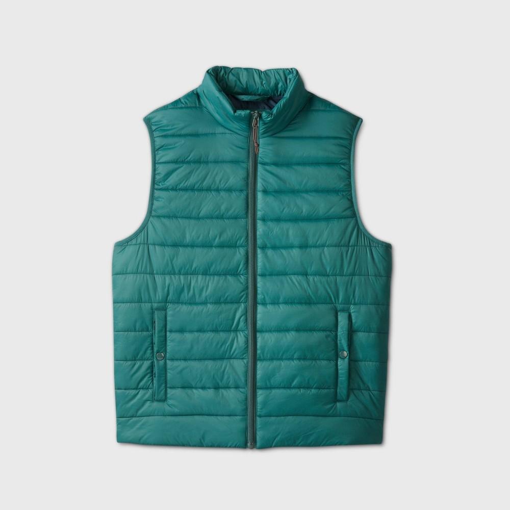 80s Windbreakers, Jackets, Coats Mens Lightweight Puffer Vest - Goodfellow  Co Green 2XL $24.99 AT vintagedancer.com
