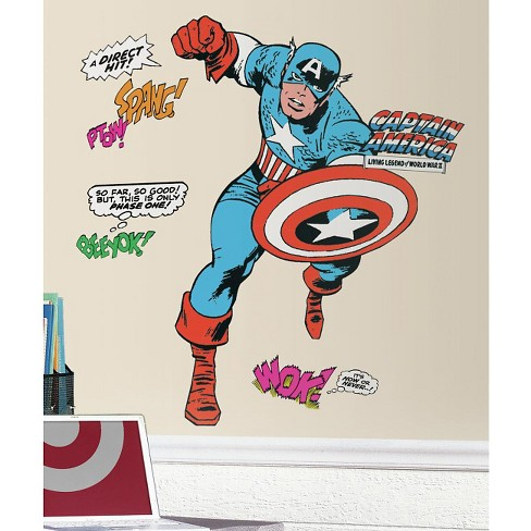 RoomMates Marvel Classic Captain America Peel and Stick Giant Wall Decals - image 1 of 2