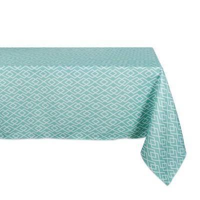 120 x60 Diamond Outdoor Tablecloth Aqua - Design Imports