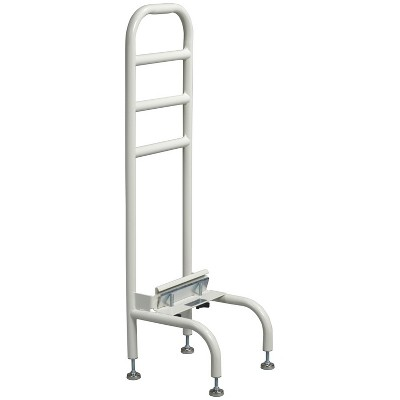 Drive Medical 15065R-1 Adjustable Height 250 Pound Weight Capacity Steel Tube Home Bed Frame Bedside Helper, White