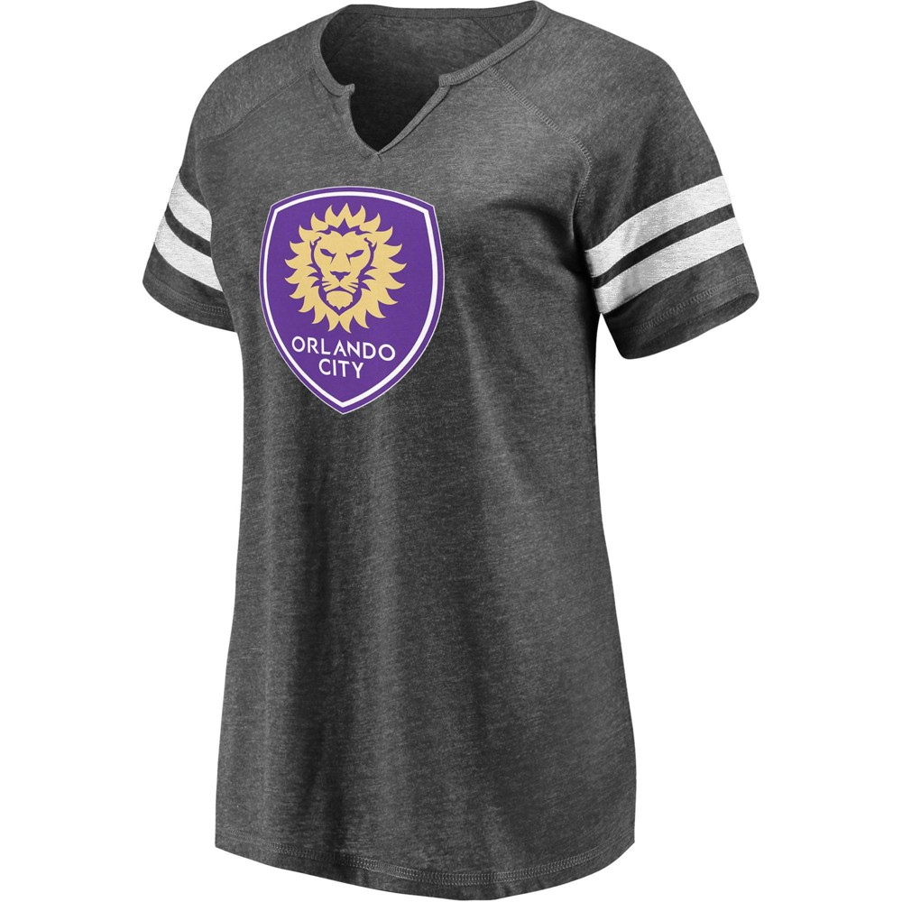 Mls Orlando City Sc Women 39 S Short Sleeve Split Neck T Shirt Xl