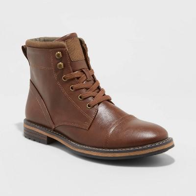 Men's Jeffrey Cap Toe Combat Boots - Goodfellow & Co™ Brown 10.5
