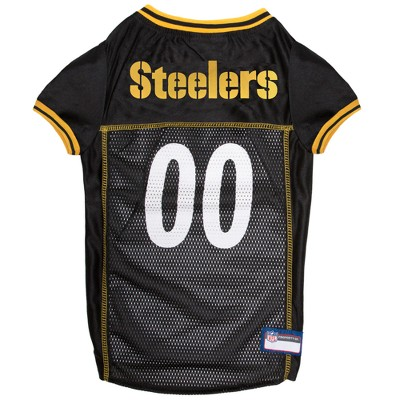 Pittsburgh Steelers Pets First Mesh Pet Football Jersey - Black XXL