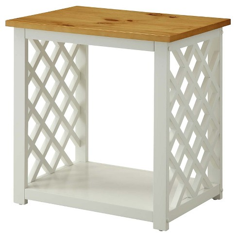 Cape Cod End Table Pine/White Medium Convenience Concepts - image 1 of 4