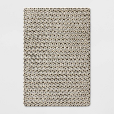 2'X3' Tribal Design Braided Accent Rug Gray - Project 62™