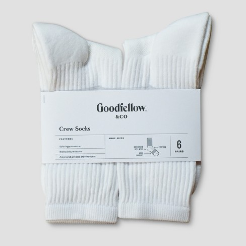 Men's Antimicrobial Resistant Athletic Socks - Goodfellow & Co™ 10-13 - image 1 of 1