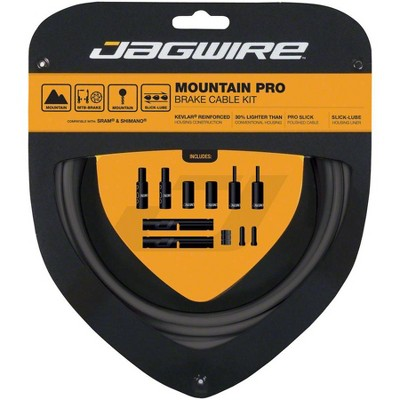 Jagwire Pro Polished Mountain Brake Kit Brake Cable & Housing Set