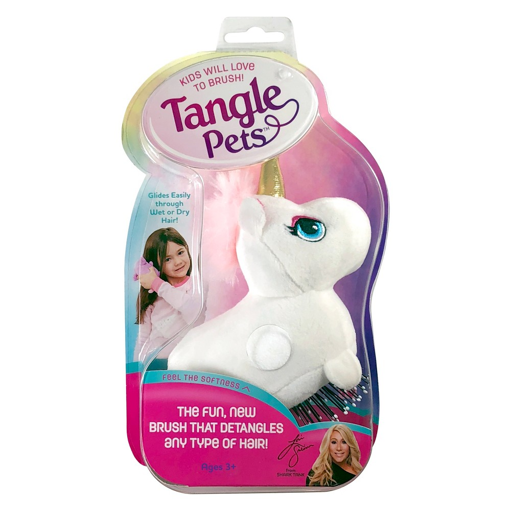 Image of As Seen on TV Tangle Pet Hair Brush - Unicorn, White