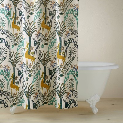 Jungle Print Shower Curtain - Opalhouse™ designed with Jungalow™
