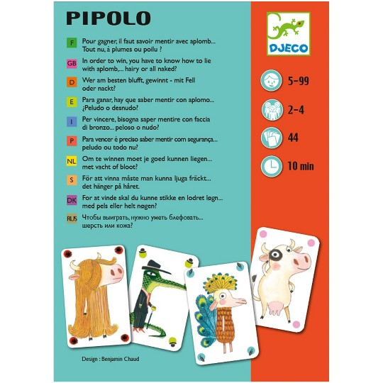 Asmodee Pipolo Card Game, card games image number null