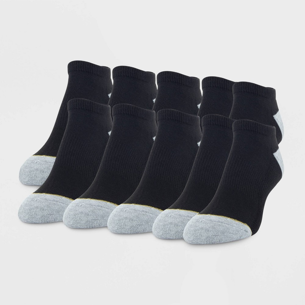 Image of All Pro by Gold Toe Women's Cushion 10pk No Show Athletic Socks - Black 4-10, Size: Small