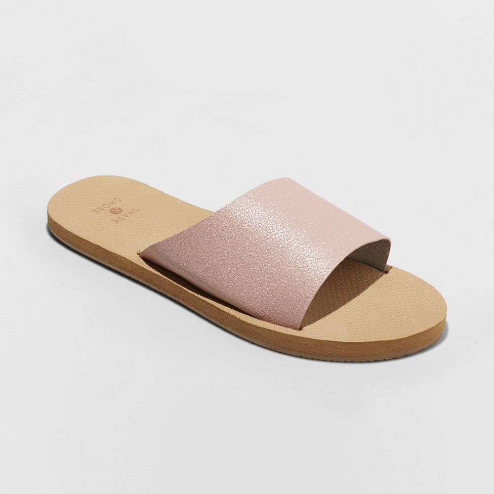 Women's Annalise Asymmetrical Slide Sandals - Shade & Shore Pink 12
