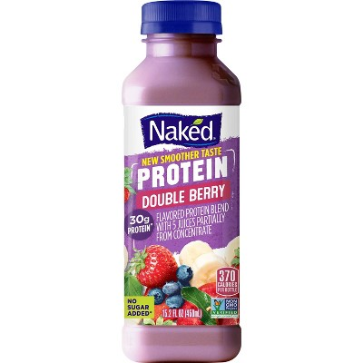 Naked All Natural Protein Zone Double Berry Protein Juice Smoothie  -15.2oz