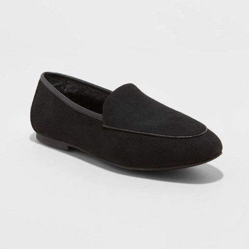 Women's Kasia Faux Fur Loafers - A New Day™ - image 1 of 3