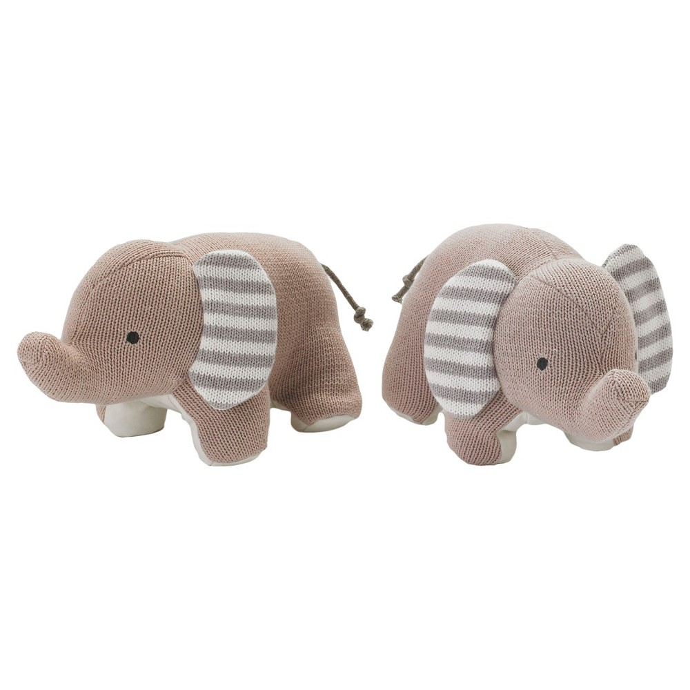 Image of Lolli Living Knit Elephants Bookend Friends - Gray/White
