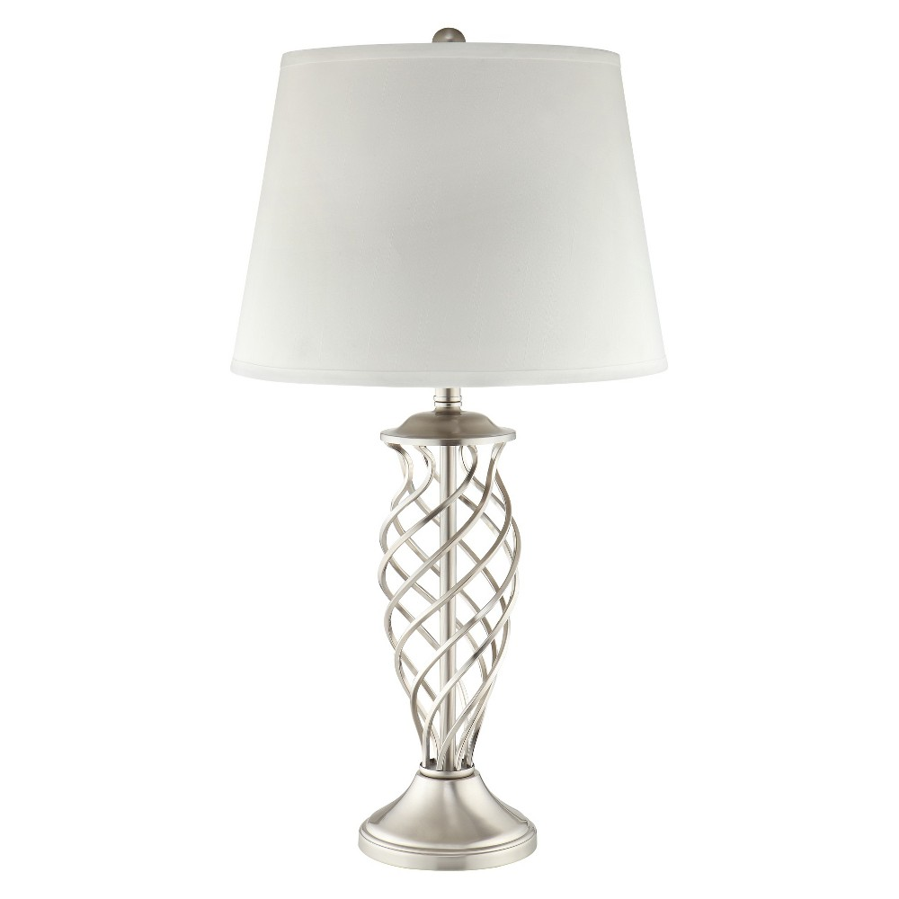 Image of Luella Woven Cage Table Lamp, Brown