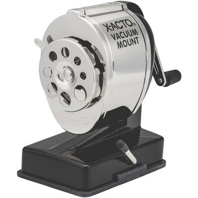 X-ACTO KS 1072 Portable Vacuum Mount Pencil Sharpener, Black/Silver