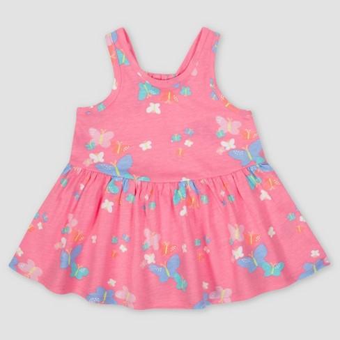 7c20e269f4d9 Gerber Baby Girls  3pc Butterflies Dress Set - Pink   Target