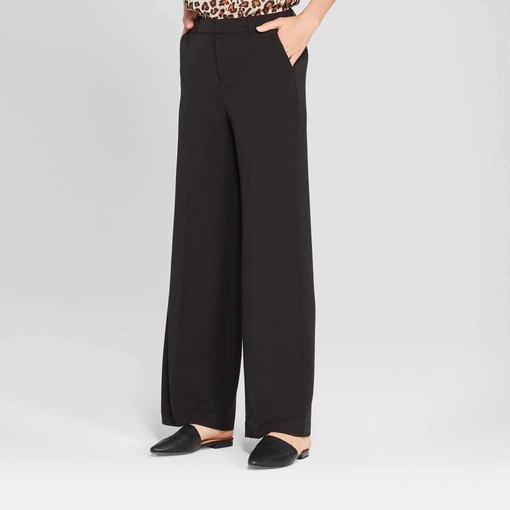 Women's Wide Leg Bi-Stretch Twill Pants - A New Day Black 16