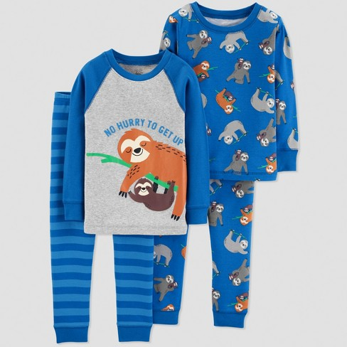 466d5dbd4 Toddler Boys  4pc Sloth Pajama Set - Just One You® made by carter s ...