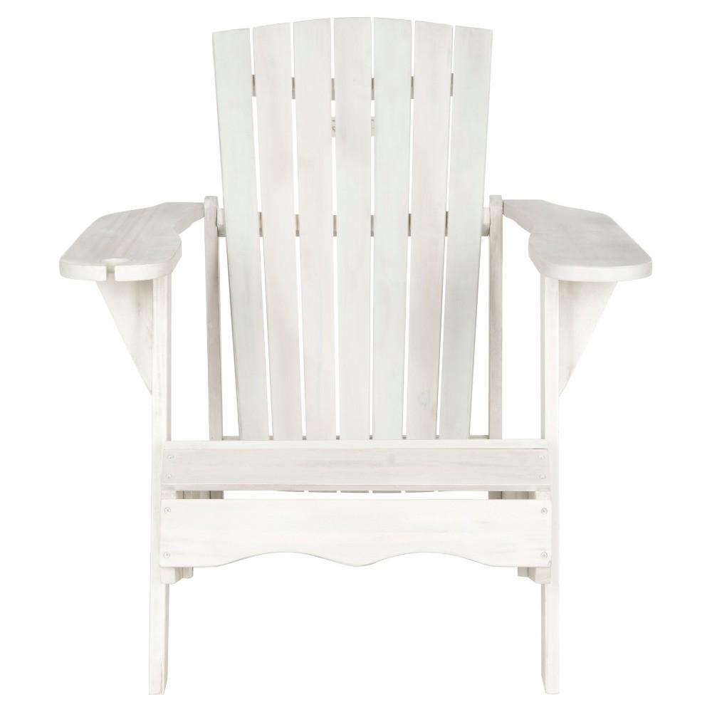 Bellagio Wood Patio Adirondack Chair White Safavieh
