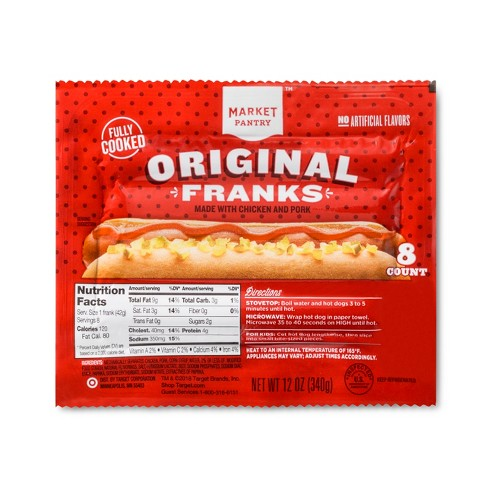 Hot Dog Original Franks - 8ct/12oz - Market Pantry™ - image 1 of 1